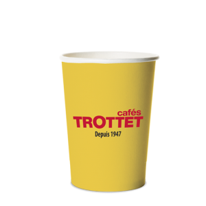 Trottet Gobelets en carton jaunes 20CL 50 Pièces