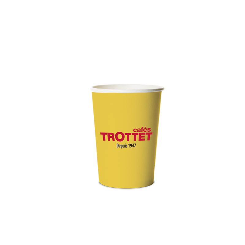 Trottet Yellow Cardboard cups 20CL