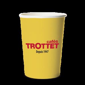 Trottet Gobelets en carton jaunes 30CL 55