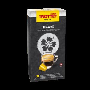 10 Capsules Hawaï Compatibles Nespresso® Cafés Trottet