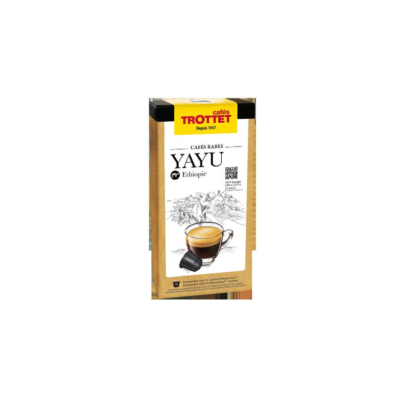 Cafés Trottet Capsules Yayu Ehtiopie 10S