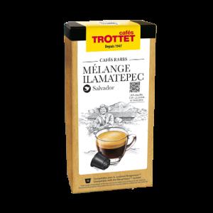 10 Capsules Mélange Illamatepec Compatibles Nespresso® Cafés Trottet