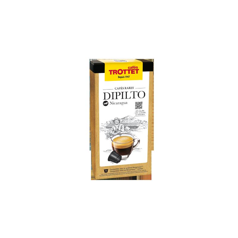Cafés Trottet 10 Capsules Dipilto Compatibles Nespresso® Cafés Trottet