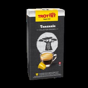 10 Capsules Tanzanie Compatibles Nespresso® Cafés Trottet