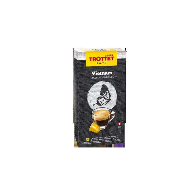 Cafés Trottet 10 Capsules Vietnam Compatibles Nespresso® Cafés Trottet