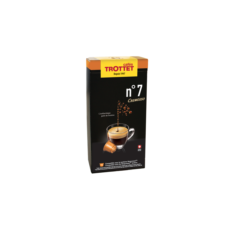 Cafés Trottet Capsules N°7 Cremosso 10S