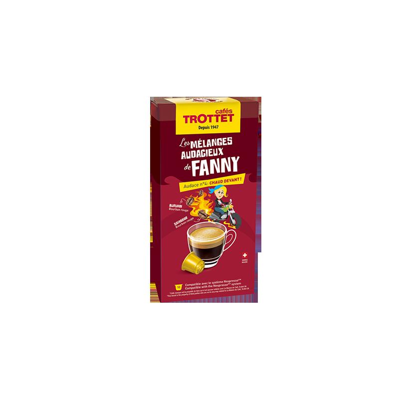 Cafés Trottet 10 Capsules Chaud Devant! Compatibles Nespresso® Cafés Trottet