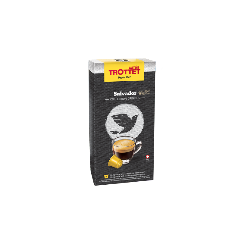 Cafés Trottet 10 Capsules Salvador Compatibles Nespresso® Cafés Trottet