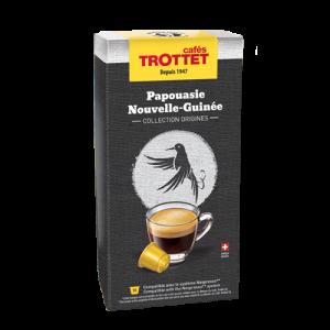 10 Capsules Papouasie N.G. Compatibles Nespresso® Cafés Trottet