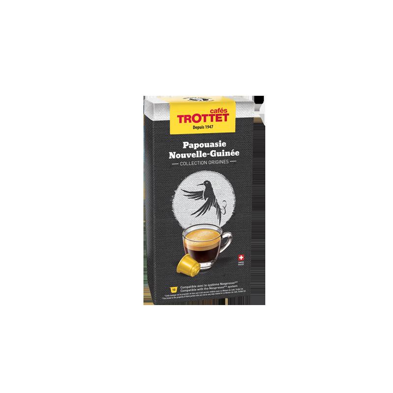 Cafés Trottet 10 Capsules Papouasie N.G. Compatibles Nespresso® Cafés Trottet
