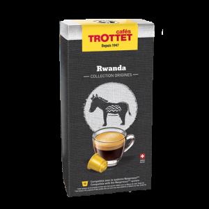 10 Capsules Rwanda Compatibles Nespresso® Cafés Trottet