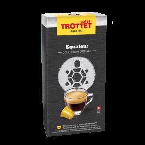 10 Capsules Equateur Compatibles Nespresso® Cafés Trottet