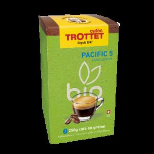250 gr Café en grain Pacific 5 Bio Cafés Trottet