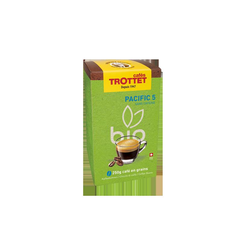 Cafés Trottet Pacific 5 Bio 250Gr Grains