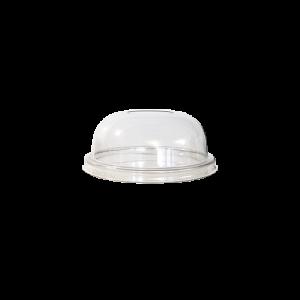 couvercle gobelet dome avec trou 81cm de diamètre transparent par 100p