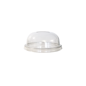 couvercle gobelet dome avec trou 98cm de diamètre transparent par 100p