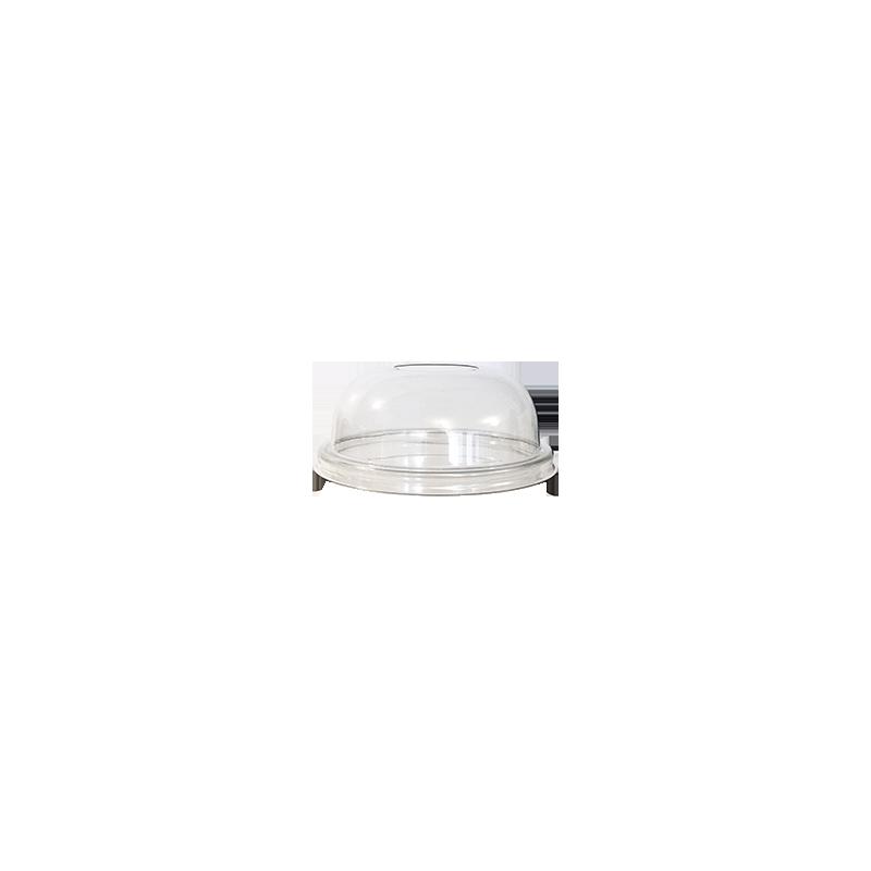 Couvercle Dôme transparent avec trou 98mm 100p