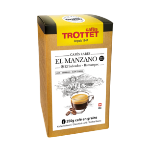 El Manzano lavé Salvador 250gr grains Cafés Trottet