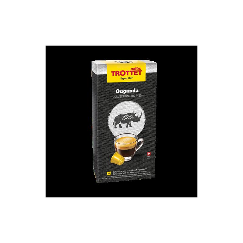 Cafés Trottet Ouganda 10 capsules
