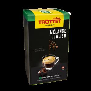 250 gr Café en grain Mélange Italien Cafés Trottet