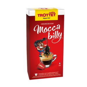 10 Capsules Moccabilly Compatibles Nespresso® Cafés Trottet