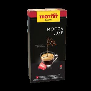 10 Capsules Mocca Luxe Compatibles Nespresso®* Cafés Trottet