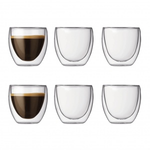 Bodum Pavina Glass Double Wall 0.08L 6 Pieces