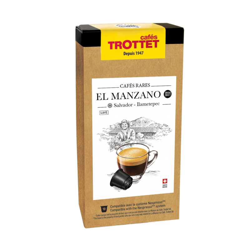 Cafés Trottet Capsules El Manzano Lave 10S