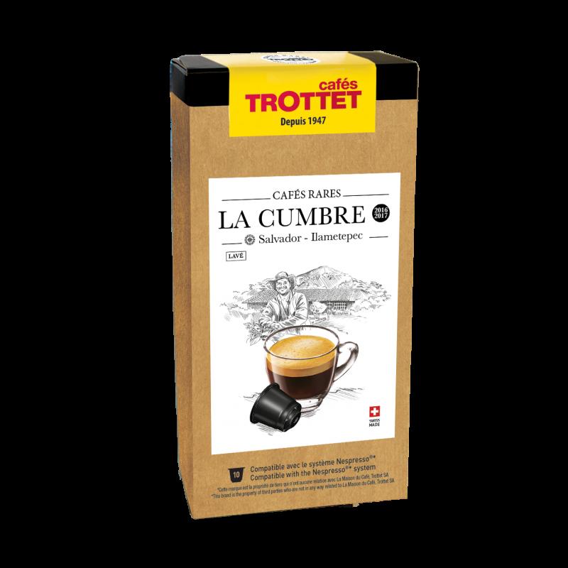 Cafés Trottet Capsules Salvador La Cumbre Lavé 10s