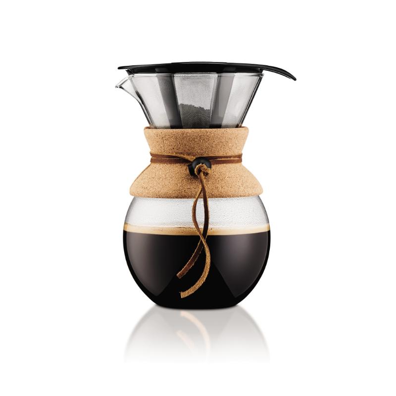cafetière avec filtre permanant en liège