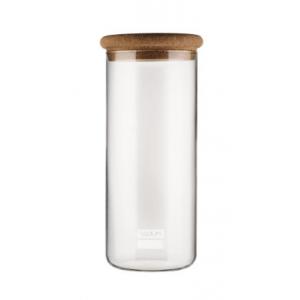 recipient en verre avec couvercle en liège