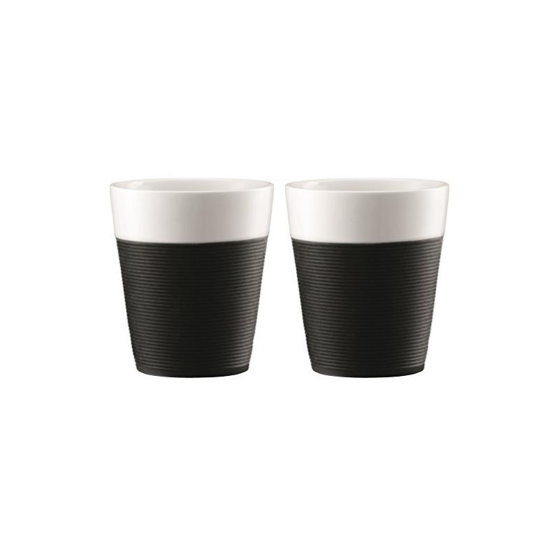 Bodum Bistro Set 2 Tassen Schwarz 0.3L