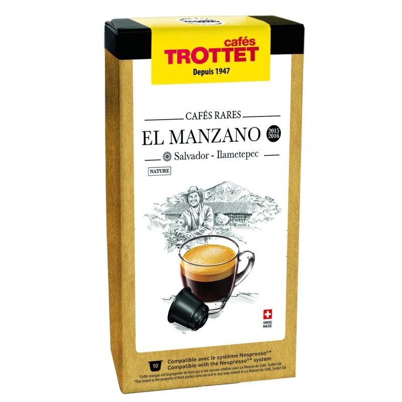 Cafés Trottet Capsules El Manzano Nature 10S