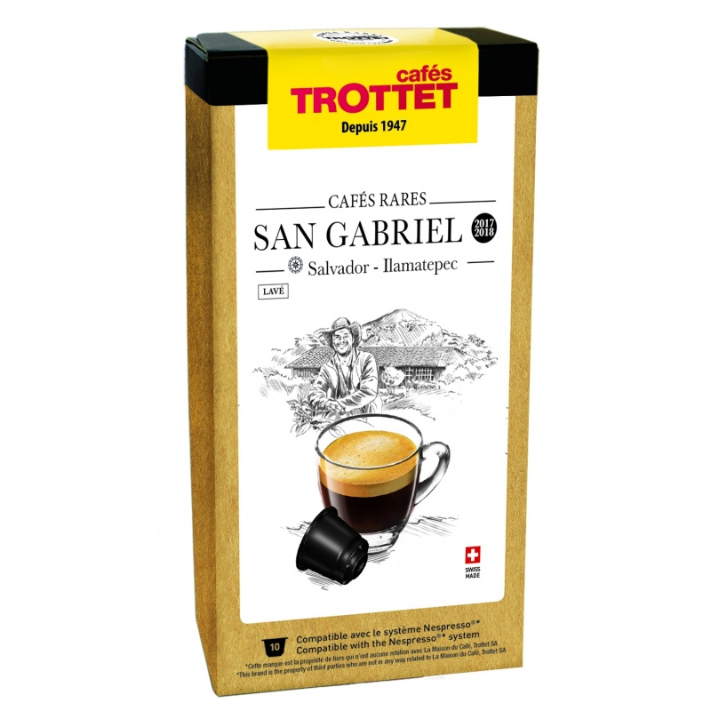 Cafés Trottet Capsules Salvador San Gabriel Lavé 10s