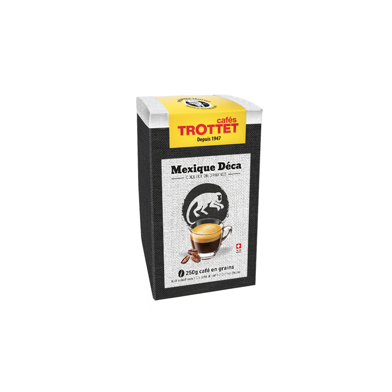 Cafés Trottet Mexique Deca 250Gr Grains