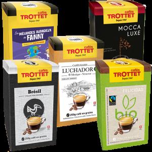 1 café, 1 gamme 250gr. x 5 Pack