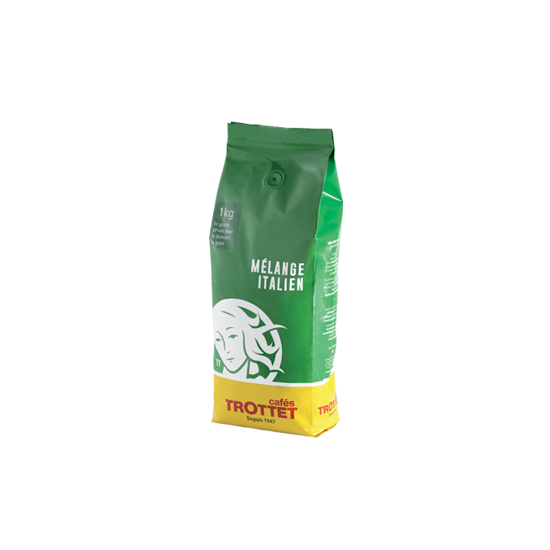 Cafés Trottet Italienische Blend Espresso Kaffeebohnen 1KG Cafés Trottet