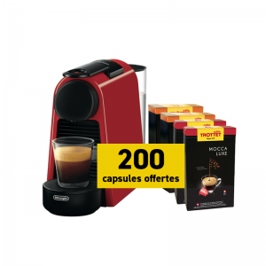 Delonghi Nespresso Essenza Mini + 200 capsules