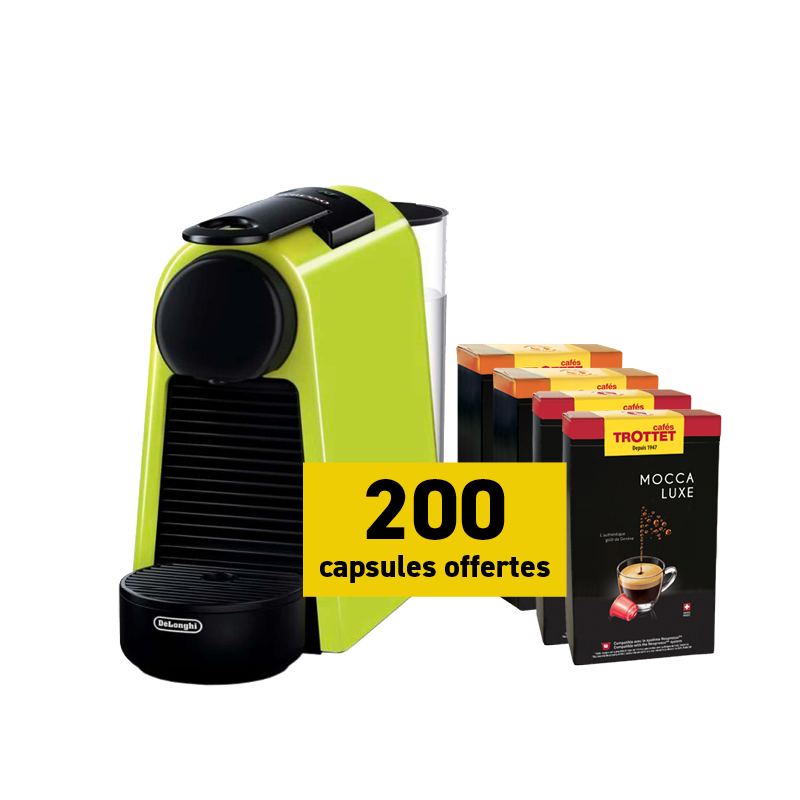 Delonghi Nespresso®* Essenza Lim et 200 capsules