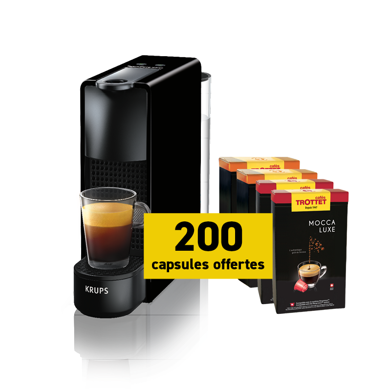 Krups Nespresso®* Essenza + 200 capsules free