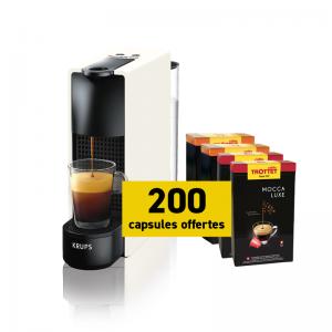 Krups Nespresso®* Essenza Blanche et 200 capsules