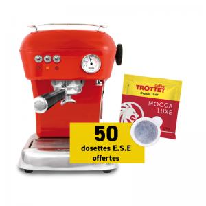 Ascaso Dream Versatile Red + 50 pads Mocca