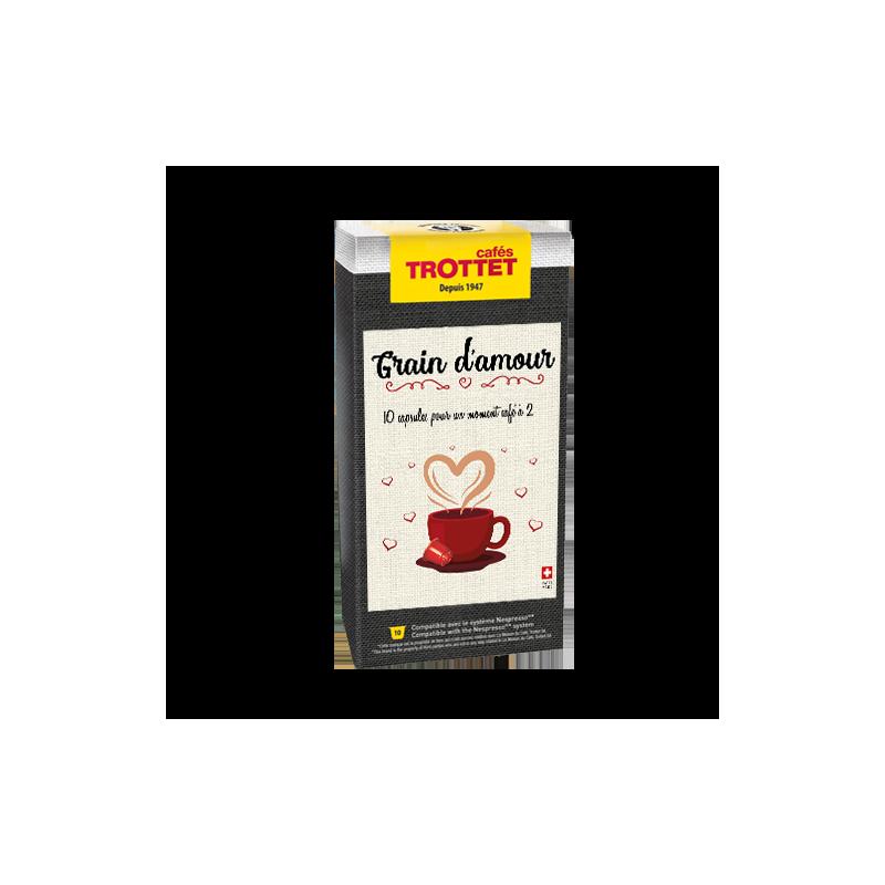 Cafés Trottet Grain d'Amour St-Valentin 10 capsules