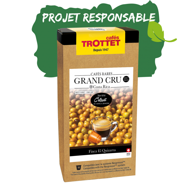 Cafés Trottet Grand Cru Costa Rica Catuai White Honey  10Cn