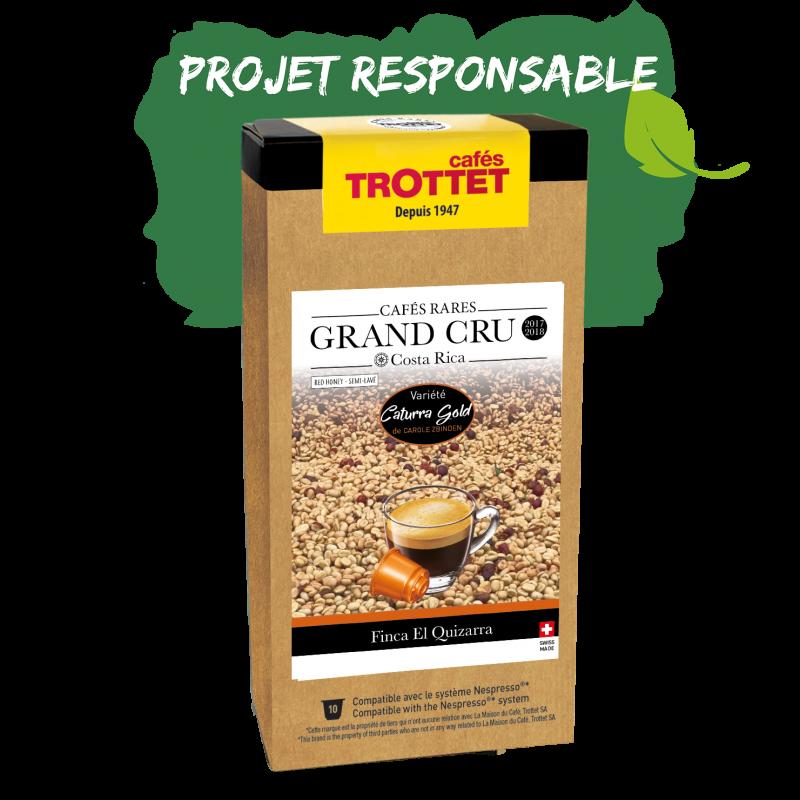 Cafés Trottet Grand Cru Costa Rica Caturra Gold Honey 10Cn