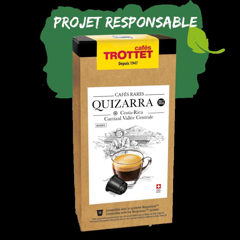 Cafés Trottet Capsules Costa Rica Quizarra lavé 10s