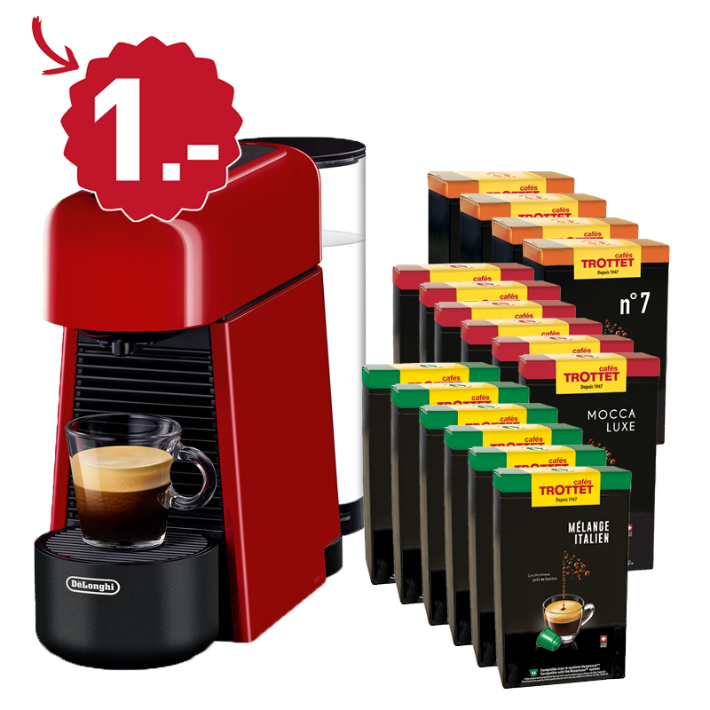 Buy 800 capsules, get the Delonghi to 1.-