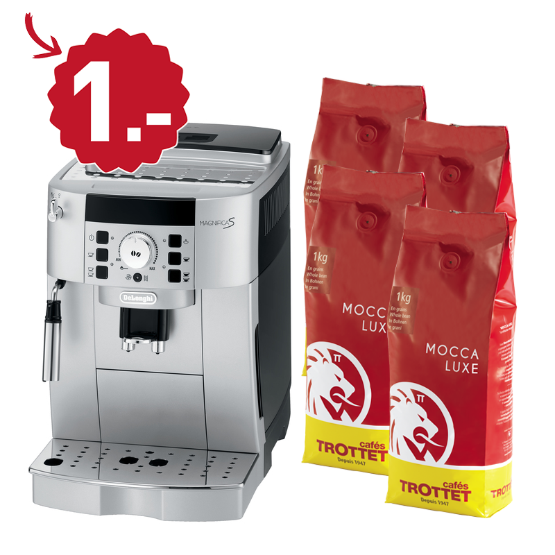 40KG Mocca Luxe bought, Delonghi to CHF 1.-