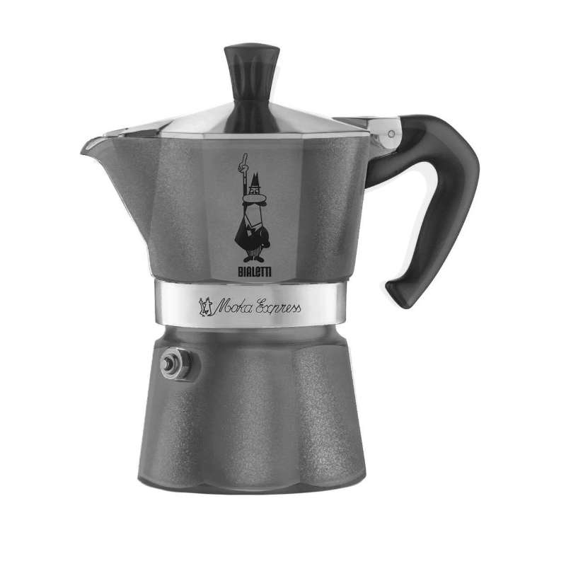 Bialetti Moka Exp. Diamond 6 Tasses Gris