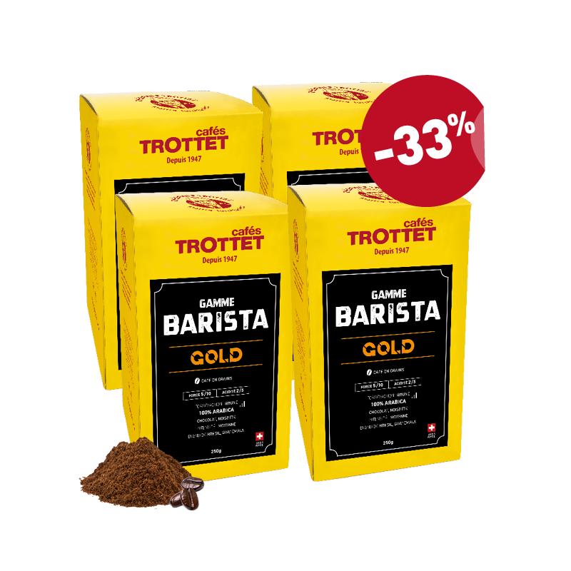 Kaffeebohnen Barista GOLD 4x250G Pack